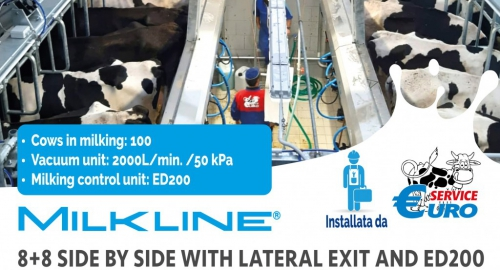 8+8 Parallel Milking with ED200